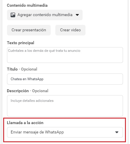 call to action whatsapp